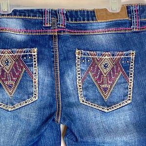 COWGIRL UP JEANS AZTEC 34x34 BOOTCUT -Tag Sz 32/36